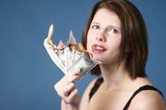 oparzenie pieniądze Obraz Stock