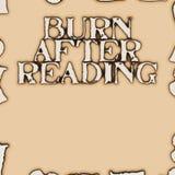 Oparzenie po czytać royalty ilustracja