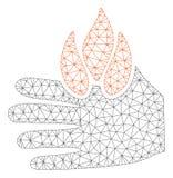 Oparzenie ręki siatki Poligonalna Ramowa Wektorowa ilustracja royalty ilustracja