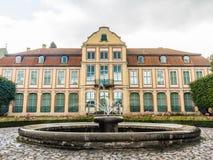 Opata pałac w Gdansk Oliva parku budować z fontanną Obraz Royalty Free