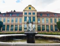 Opata pałac w Gdansk Oliva parku budować z fontanną Fotografia Stock