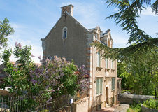 Opata Sauniere dom, Rennes Le Górska chata miasto Zdjęcie Royalty Free
