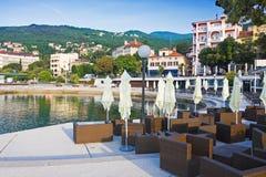 Opatija. View of Opatija on a morning, Croatia Stock Photography