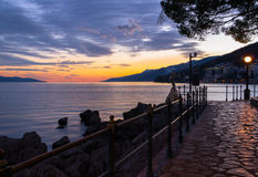 Opatija afternoon, Croatia stock photography