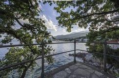 Opatija, Croácia, Icici, curso Imagem de Stock Royalty Free