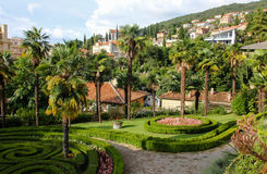 Opatija Croatia tropical garden Royalty Free Stock Photos