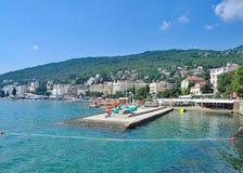 Opatija, mar de adriático, Istria, Croatia foto de stock