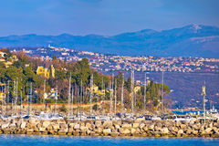 Opatija marina in Icici panoramic view Stock Image
