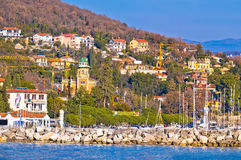 Opatija marina in Icici panoramic view Stock Photos