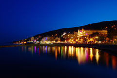 Opatija By Night Royalty Free Stock Photography