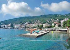 Opatija no mar de adriático, Istria, Croácia imagens de stock