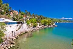 Opatija riviera beach and coastline view Royalty Free Stock Image