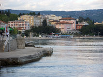 Opatija riviera with beaches and hotels Stock Photo