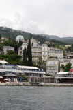 Opatija riviera with beaches and hotels Stock Photography
