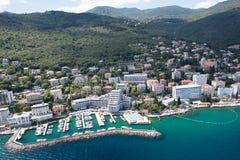 Opatija's eye view. In Croatia Royalty Free Stock Image