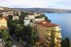 Opatija view. View on Opatija, city of Croatia royalty free stock images