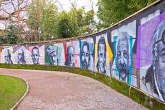 Opatija-Wand des Ruhmes im Angiolina-Park Stockfoto