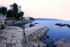 Opatija waterfront. Waterfront in Opatija. City of Croatia stock image
