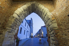 Opatowska Gate and Church of the Holy Spirit - Sandomierz, Swiet Royalty Free Stock Images