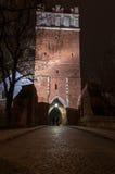 Opatowska port vid natt Royaltyfri Foto
