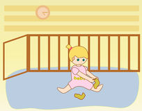 opatrunkowa dziecko dziewczyna ilustracja wektor