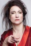 opatrunkowa togi czerwieni kobieta Obraz Royalty Free