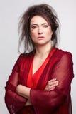 opatrunkowa togi czerwieni kobieta Obrazy Royalty Free