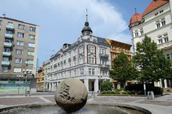 Opava in Czech Republic. Fountain Stock Photography