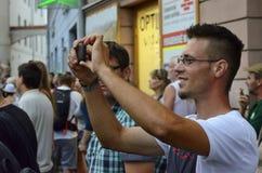 Opava, repubblica Ceca, il 23 luglio 2015, foto editoriale della m. felice Fotografia Stock Libera da Diritti