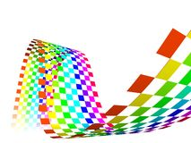 Opazität-Mehrfarbenregenbogen Stockbild