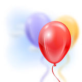Opblaasbare ballons in de lucht Royalty-vrije Stock Afbeelding