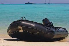 Opblaasbare Boot van Thaise Marine Royalty-vrije Stock Fotografie