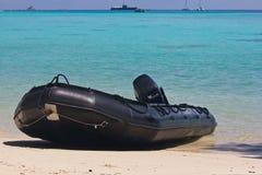 Opblaasbare Boot van Thaise Marine Royalty-vrije Stock Foto