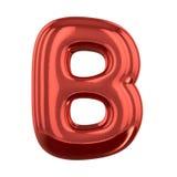 Opblaasbare brieven van het alfabet 3d Stock Afbeelding