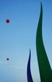 Opblaasbare buizen en ballons Stock Afbeeldingen
