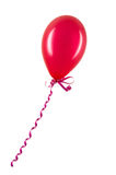 Opblaasbare rode ballon die op wit wordt geïsoleerd Stock Foto