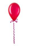 Opblaasbare rode die ballon op wit wordt geïsoleerd Stock Fotografie