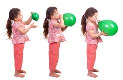 Opblazen een Ballon Royalty-vrije Stock Afbeeldingen