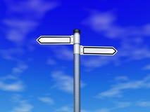 Opción de la dirección en el cielo Imagen de archivo libre de regalías