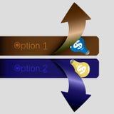 Opción de la flecha Foto de archivo libre de regalías