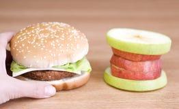 Opción de la hamburguesa Fotografía de archivo