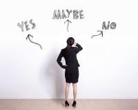 Opción de la mujer de negocios Imagen de archivo