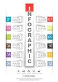 Opción de la plantilla doce del papel del stiker de la cronología de Infographics libre illustration