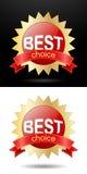 Opción de las etiquetas engomadas del promo la mejor Fotos de archivo