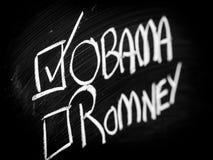 Opción de Obama y de Romney Fotografía de archivo libre de regalías