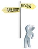 Opción del éxito o del fracaso Foto de archivo libre de regalías