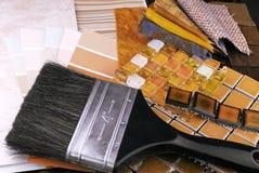 Opción del adornamiento y del diseño interior Imágenes de archivo libres de regalías