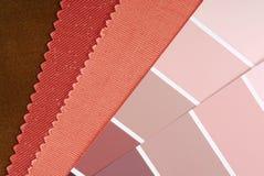 Opción del color del diseño interior imagenes de archivo