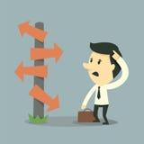 Opción del hombre de negocios stock de ilustración