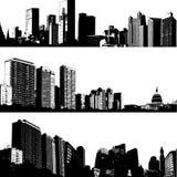 Opción del horizonte de la ciudad Imágenes de archivo libres de regalías